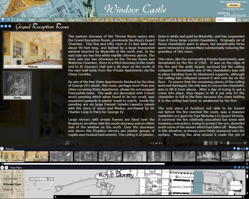 Click to view Windsor Castle Virtual Tour 2.0 screenshot